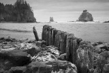 Shoreline And Harbor's Edge At The Quileute Native American Reservation at La Push, Washington State
