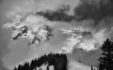 Winter Weather Over Mt. Rainier, Washington State
