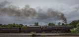 The Restored J Class Norfolk & Western #611 Steam Locomotive And Train