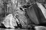 Afternoon Light On River Rocks:  Film Still Works