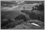 View From Mcafee Knob- The Appalachian Trail -B&W Version