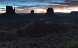 Daybreak In Monument Valley And Valley Drive