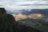 Scattered Light And Rain Showers: South Rim Of The Grand Canyon