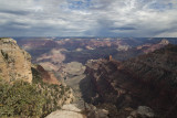 Scattered Light And Clouds Over The Grand Canyon- South Rim
