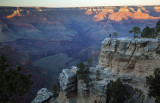 Fading Evening Light At The Grand Canyon