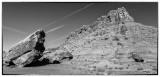 Vermillion Cliffs And Contrails