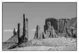 Monoliths In Monument Valley: Arizona