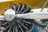 Radial Engine Of An Old Biplane