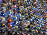 A Partial View Of The Wall Of College Football Helmets At The College Football Hall Of Fame-Atlanta