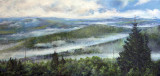 An Oil Painting Of The Great Smoky Mountains