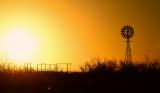 late evening windmill