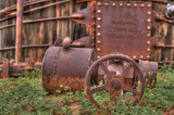 Old wood tank at the Petroleum Museum.