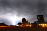 Lightning downtown.