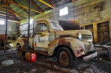 Old Dodge truck in a barn.
