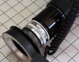 Omega copier lens reversed on 200mm F4.