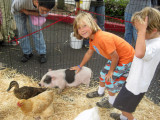 Will and Charlie petting zoo at SL Library