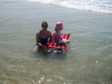 Aunt Kelly and cousin Leah in North Carolina