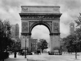 1892 - Washington Square Arch, looking downtown