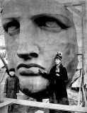 1885 - Face of the Statue of Liberty, not yet in place