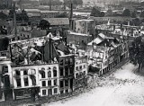 September 1914 - Medieval city center of Termonde destroyed by the Germans
