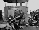 March 1862 - Sailors on the ironclad warship The Monitor