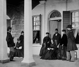 1864 - Union officers and ladies at a garrison house