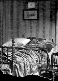 April 15, 1865 - Bed on which Lincoln died