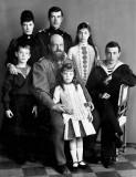 1888 - Tsar Alexander III with his family