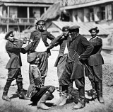 April 1878 - Cossacks celebrate before leaving for service