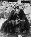 c. 1895 - Peasant with pipe and dagger