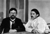 1900 - Anton Chekhov and Maxim Gorky