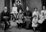 1916 - Country teacher with her family