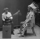 February 9, 1916 - Mountain Chief of Piegan Blackfeet making a recording