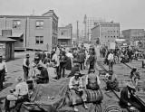 c. 1915 - Dinner hour on the docks
