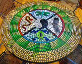 Mosaic based on a Native American Medicine Wheel