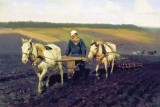 1887 - Tolstoy ploughing