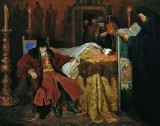 November 1581 - Ivan the Terrible at the deathbed of his son, whom he murdered