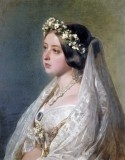 1840 - Queen Victoria in wedding veil