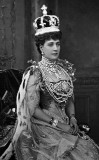 August 1902 -  Queen Alexandra in her coronation robes