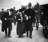1910 - Suffragette under arrest