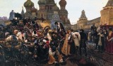 1689 - Execution of Streltsy by Peter the Great (on horseback on the right), Red Square