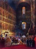 26 August 1856 - Tsar and tsarina to go thru the Wall of Icons