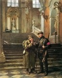 1917 - Soldiers inside the Winter Palace