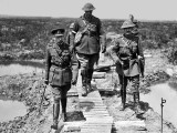 April 1917 - King George V (left) with escorts