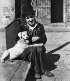 1918 - Still of Charlie Chaplin with Scraps (the dog)