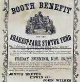 1864 - Booth brothers on stage together