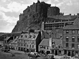 1865 - Edinburgh Castle from the Grassmarket