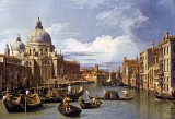 1730 - The Grand Canal and Basilica of Santa Maria della Salute, Venice, Italy