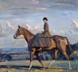 c. 1914 - Lady Barbara Lowther on Horseback