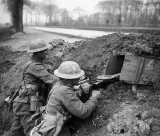 13 April 1918 - Machine gun on the bank of the Lys Canal